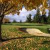 A fall view of a green at Round Hill Golf & Country Club