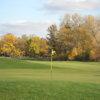 A fall view of a green at Stone Ridge Golf Club