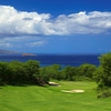 View of the 14th green at Makena Golf Course