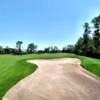 A view over a large bunker at Stoneybrook East Golf Course
