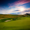 A view of the 7th green at Pete Dye Course from French Lick Resort