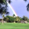 A view of a double rainbow over Maui Country Club