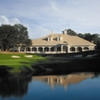 A view of the clubhouse and 18th green at Founders Club of Pawleys Island
