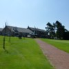 View from the first looking back towards the clubhouse at Marple Golf Club