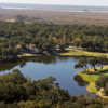 View of the 9th hole and clubhouse at The King and Prince Beach & Golf Resort