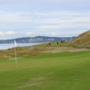 A view of a green at Chambers Bay