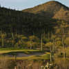 A view of the 8th hole at Rattler from Starr Pass Golf Club