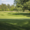 A view of a fairway from the green