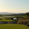 View from the yellow 18th tee at Las Sendas Golf Club