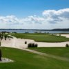 A view of the 16th hole surrounded by sand traps at Nicklaus from Colleton River Plantation Club