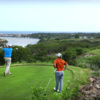 A view from a tee at Dye Fore from Casa de Campo