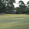 A view of a hole flanked by bunkers at Arcadian Shores Golf Club