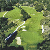 Aerial view of hole #12 at DeLaveaga Golf Course & Lodge