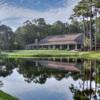 A view of the clubhouse at Dolphin Head Golf Course
