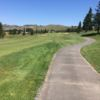 A view of a tee at Blue Rock Springs Golf Course