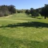 A view from a tee at Blue Rock Springs Golf Course