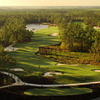 Aerial view of the 8th hole at Old Corkscrew GC.