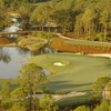 Aerial view of the 11th hole at Old Corkscrew GC.