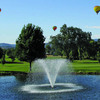 A view from the 5th tee with baloons flying over at Hidden Valley Lake Golf Course